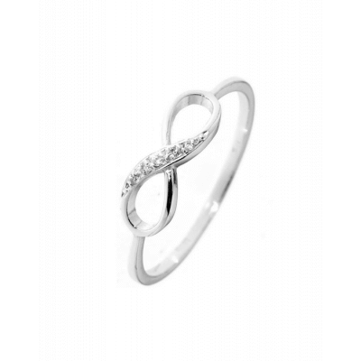 Bague Zirconiums or blanc