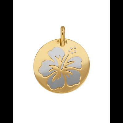 la-fabrique-d-or-Médaille Hibiscus