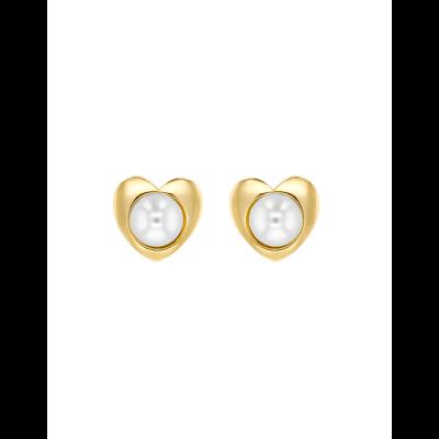 Boucles d'oreille Cœur & Perle