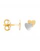 la-fabrique-d-or-Boucles d'oreille 2 Cœurs