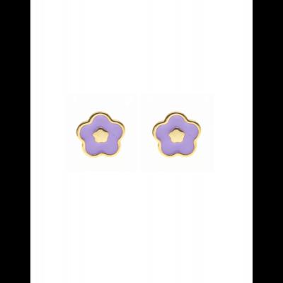 la-fabrique-d-or-Boucles d'oreilles Fleur