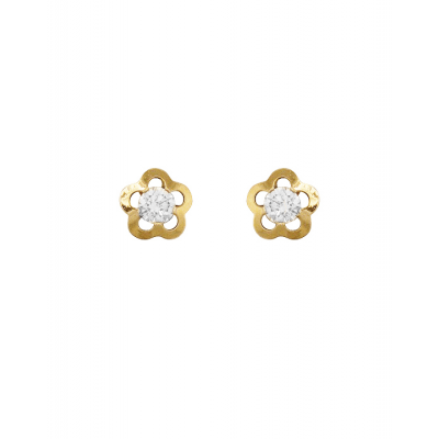 Boucles d'oreille Fleur