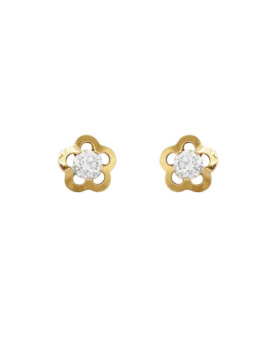 la-fabrique-d-or-Boucles d'oreille Fleur