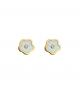 la-fabrique-d-or-Boucles d'oreilles Fleurs Nacrées