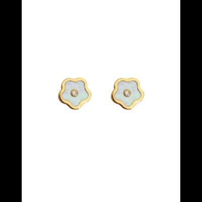 Boucles d'oreilles Fleurs Nacrées