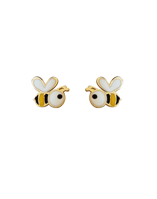 la-fabrique-d-or-Boucles d'oreilles Petite Abeille