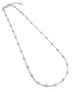 Collier argent perles roses