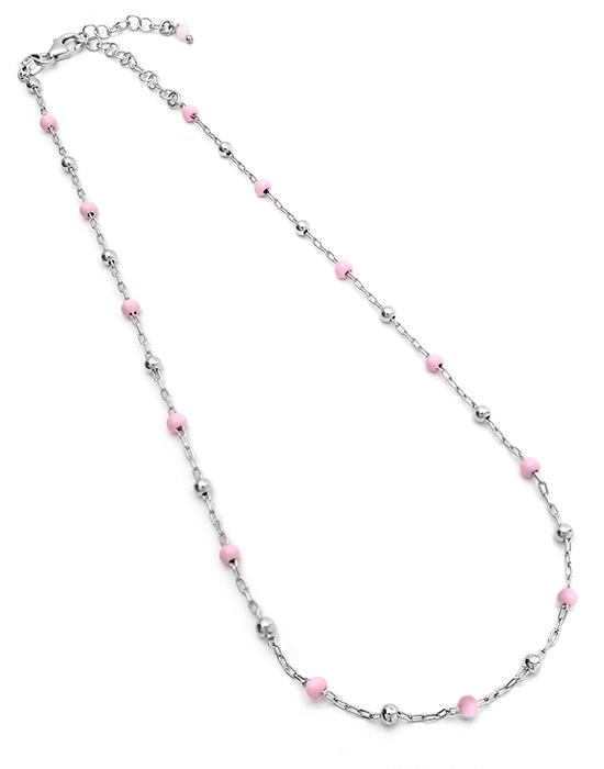 la-fabrique-d-or-Collier argent perles roses