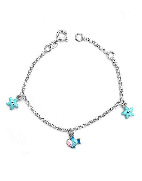 Bracelet Poisson et étoiles de mer