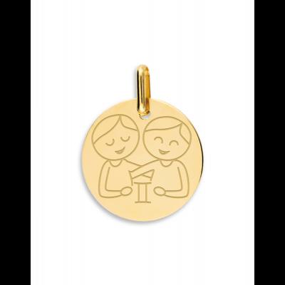 la-fabrique-d-or-Médaille Gémeaux garçon