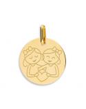 Médaille Gémeaux fille