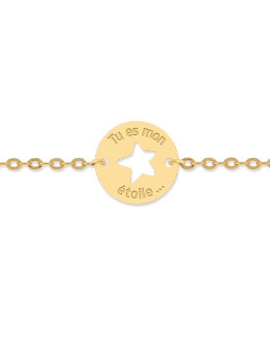 la-fabrique-d-or-Bracelet Tu es mon Étoile