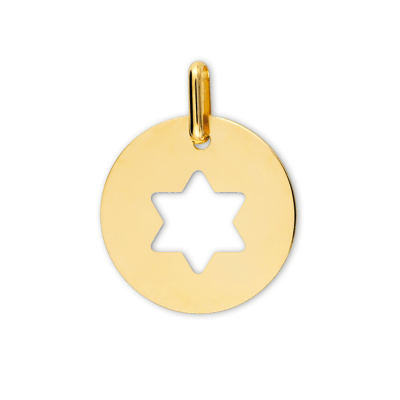 Médaille Étoile de David ajourée