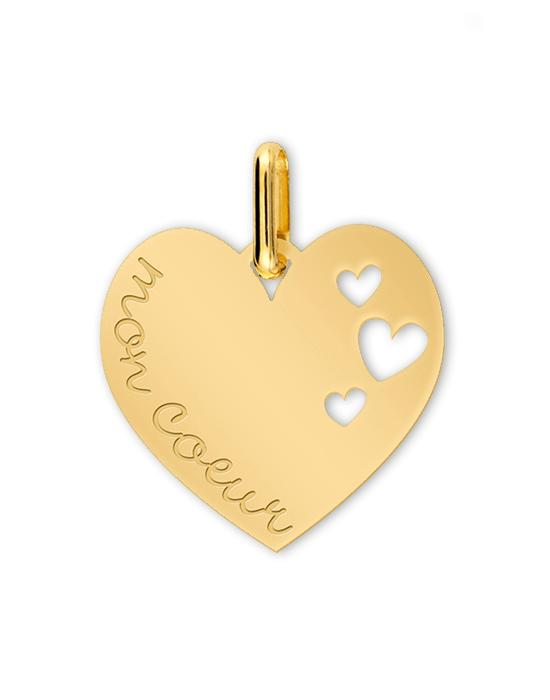 la-fabrique-d-or-Médaille Cœurs gravé