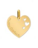 Médaille Cœurs gravé