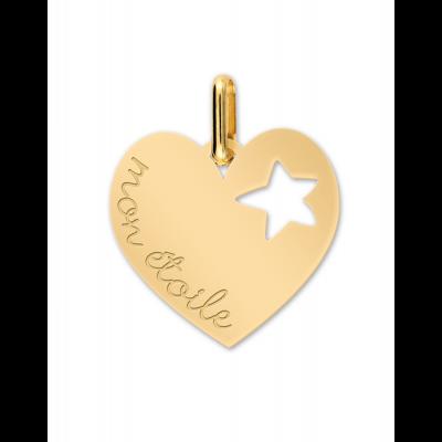 Médaille Cœur & Étoile gravé
