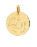 Médaille Allah gravée