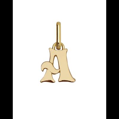 Lettres arrondis en or