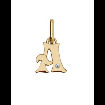 Lettres en or ornée de diamant