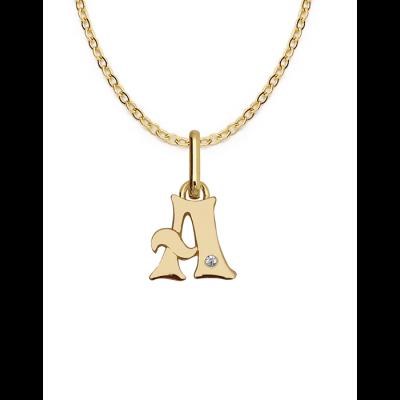 Collier Lettre en or avec diamant