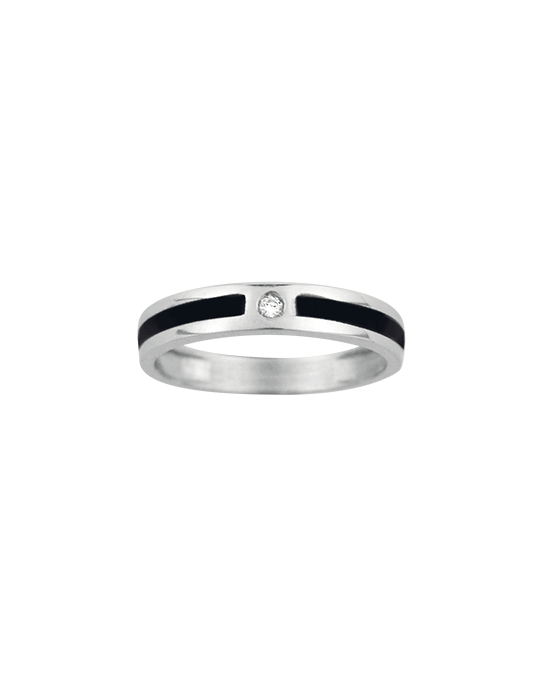 or blanc bague homme