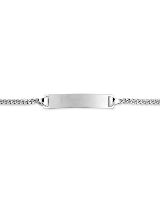 la-fabrique-d-or-Bracelet Identité Bébé plaque rectangle chaîne gourmette