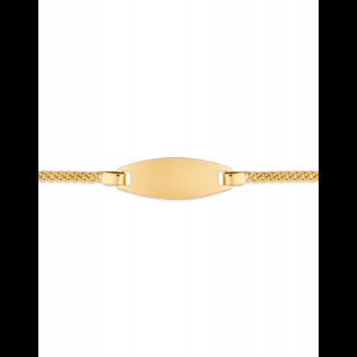 Bracelet Identité Bébé plaque ovale chaîne gourmette