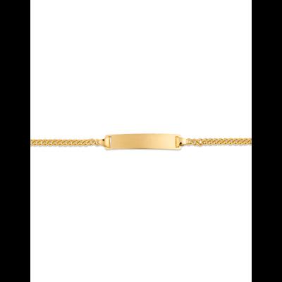 Bracelet Identité Bébé plaque rectangle chaîne gourmette