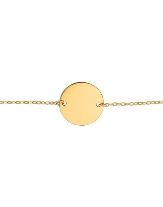 Bracelet Identité Bébé plaque ronde chaîne forçat