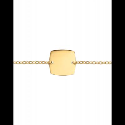 Bracelet Identité Bébé plaque coussin chaîne forçat