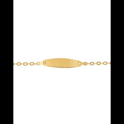 Bracelet Identité Bébé plaque ovale chaîne forçat