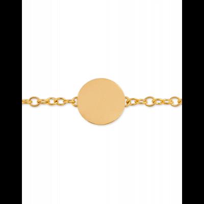 Bracelet Identité Bébé plaque ronde chaîne forçat ronde