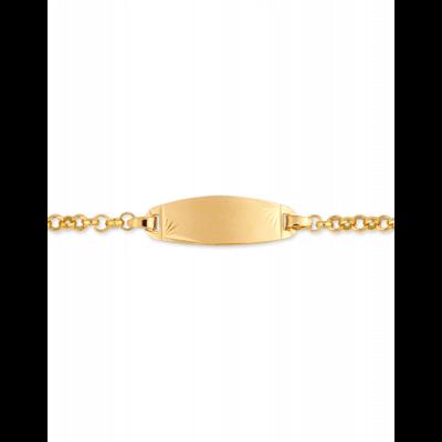 Bracelet Identité Bébé plaque ovale chaîne jaseron