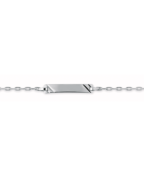 Bracelet Identité Bébé plaque rectangle chaîne forçat