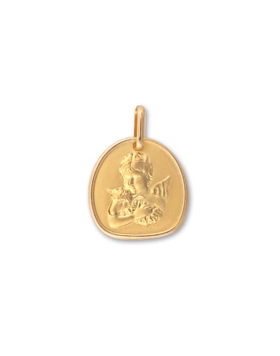 la-fabrique-d-or-Médaille Ange à l'Agneau