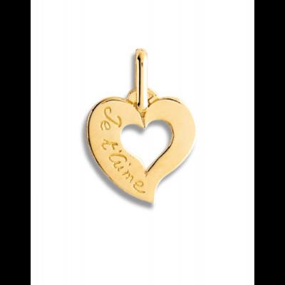 """la-fabrique-d-or-Cœur ajouré """"Je t'aime"""""""