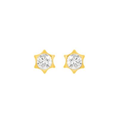 Boucles d'oreilles étoile serties