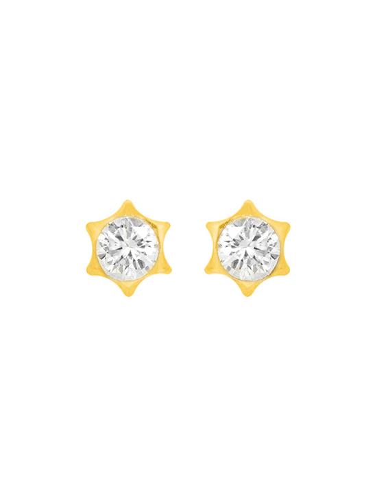 la-fabrique-d-or-Boucles d'oreilles étoile serties