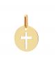 la-fabrique-d-or-Médaille ronde Croix ajourée