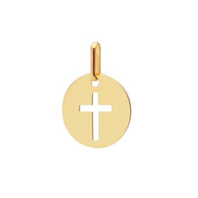 Médaille ronde Croix ajourée