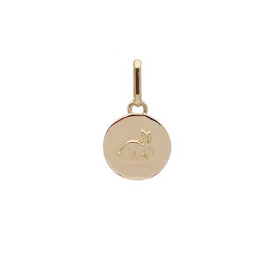 la-fabrique-d-or-Médaille ronde Lapin