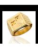 la-fabrique-d-or-Chevalière Carrée étoilée avec Gaudrons