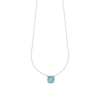 Collier argent Sissi Turquoise