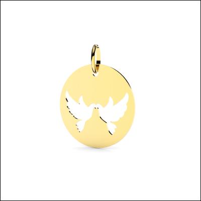 Médaille Deux Colombes Ajourées