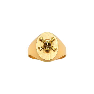 la-fabrique-d-or-Chevalière Ovale Tête de Mort
