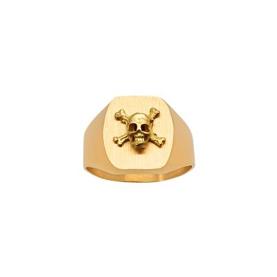 la-fabrique-d-or-Chevalière Tonneau Tête de Mort
