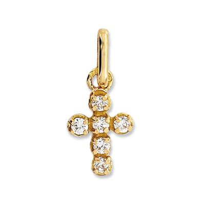 Pendentif Croix Or Diamant