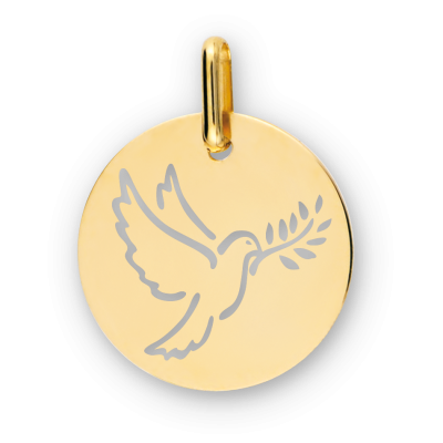Médaille Colombe Ajourée