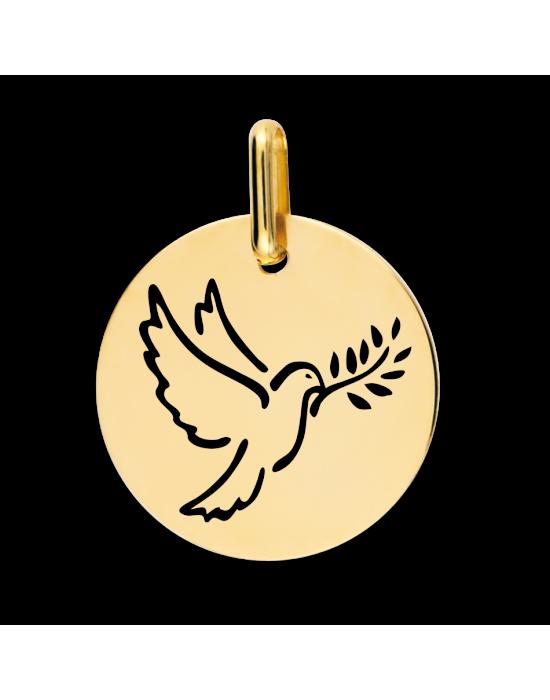 la-fabrique-d-or-Médaille Colombe Ajourée