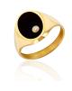 la-fabrique-d-or-Chevalière Onyx avec Diamant